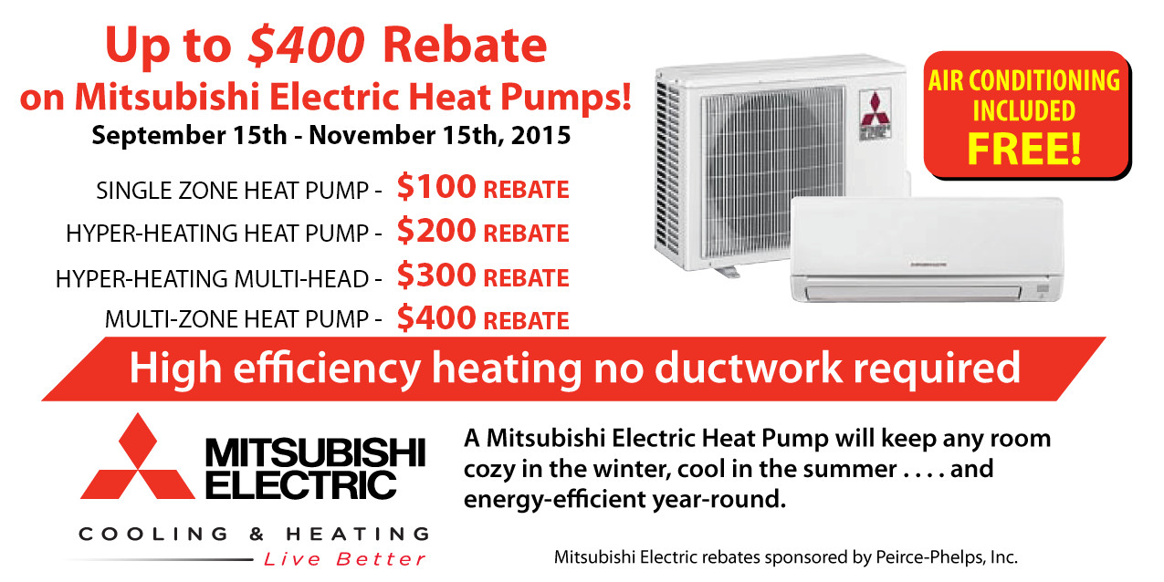 Rebates On Mitsubishi Air Conditioning Ductless Duct Free